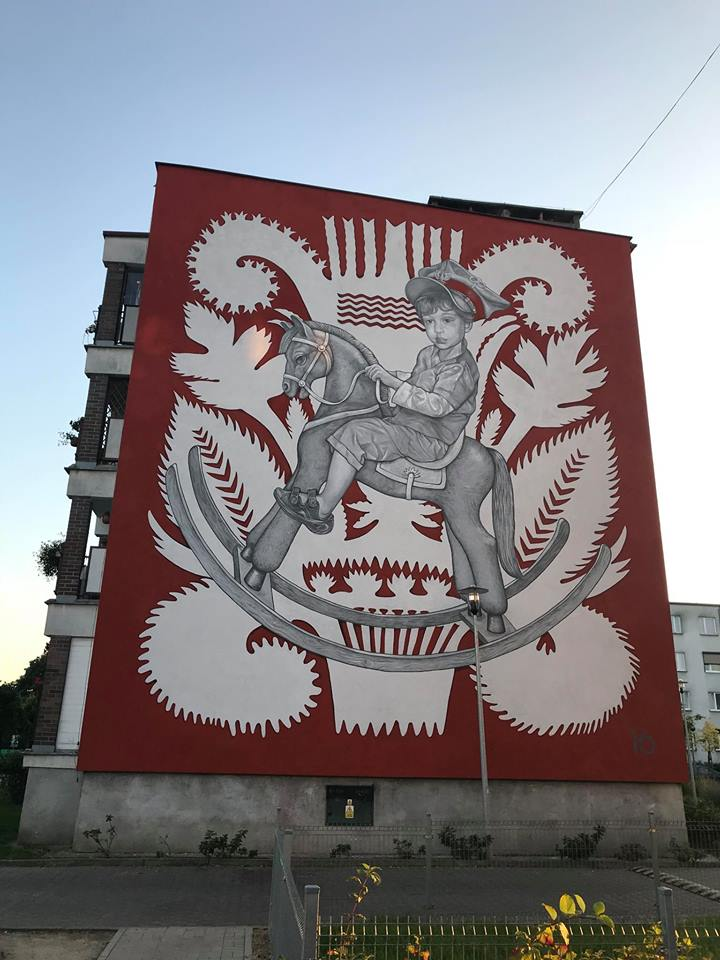 """Little Uhlan"" by Mark Maksimovich, Alex Novitsky and AMOK in Śrem, Poland"