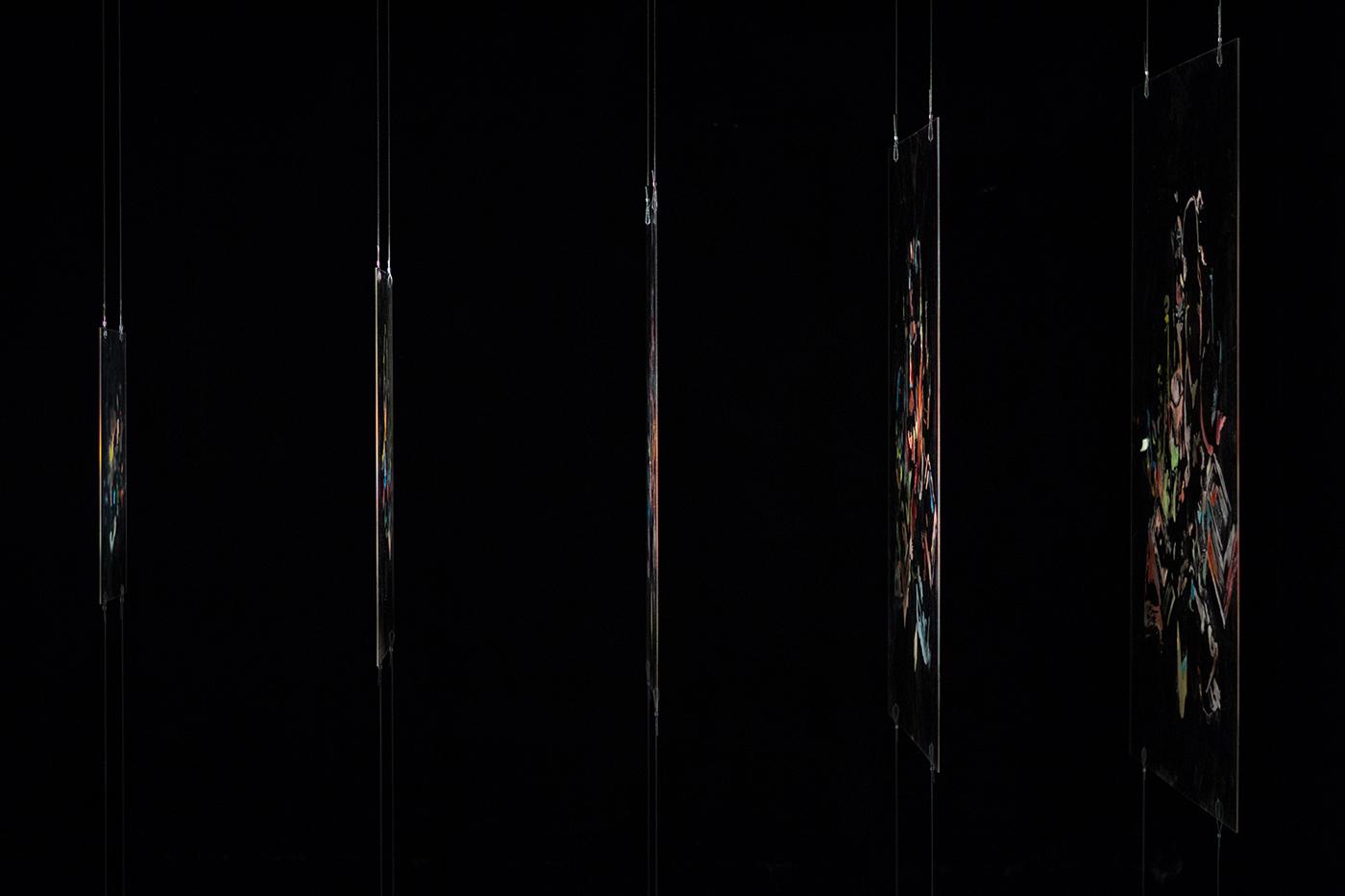 MATIÈRE NOIRE, exhibition by Gonzalo Borondo in Marseille, France Artes & contextos Matière Noire @ Blind Eye Factory 1