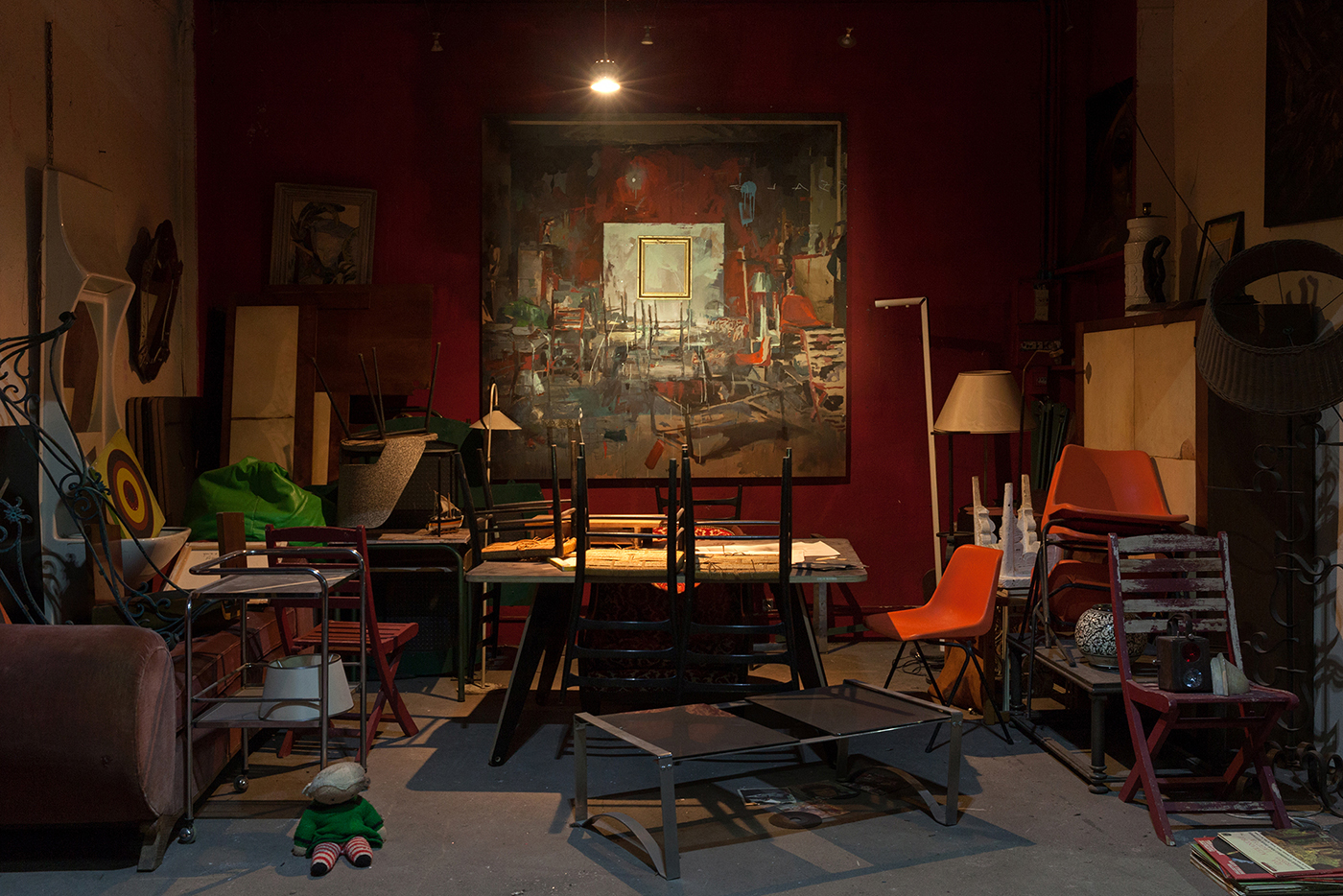 MATIÈRE NOIRE, exhibition by Gonzalo Borondo in Marseille, France Artes & contextos Matière Noire Borondo @ Blind Eye Factory 1