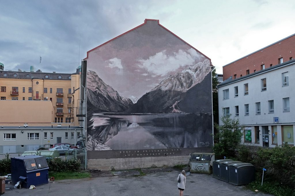 """Rest in Stillness Like Sky Mountain Lake"" by Ricky Lee Gordon in Vaasa, Finland"