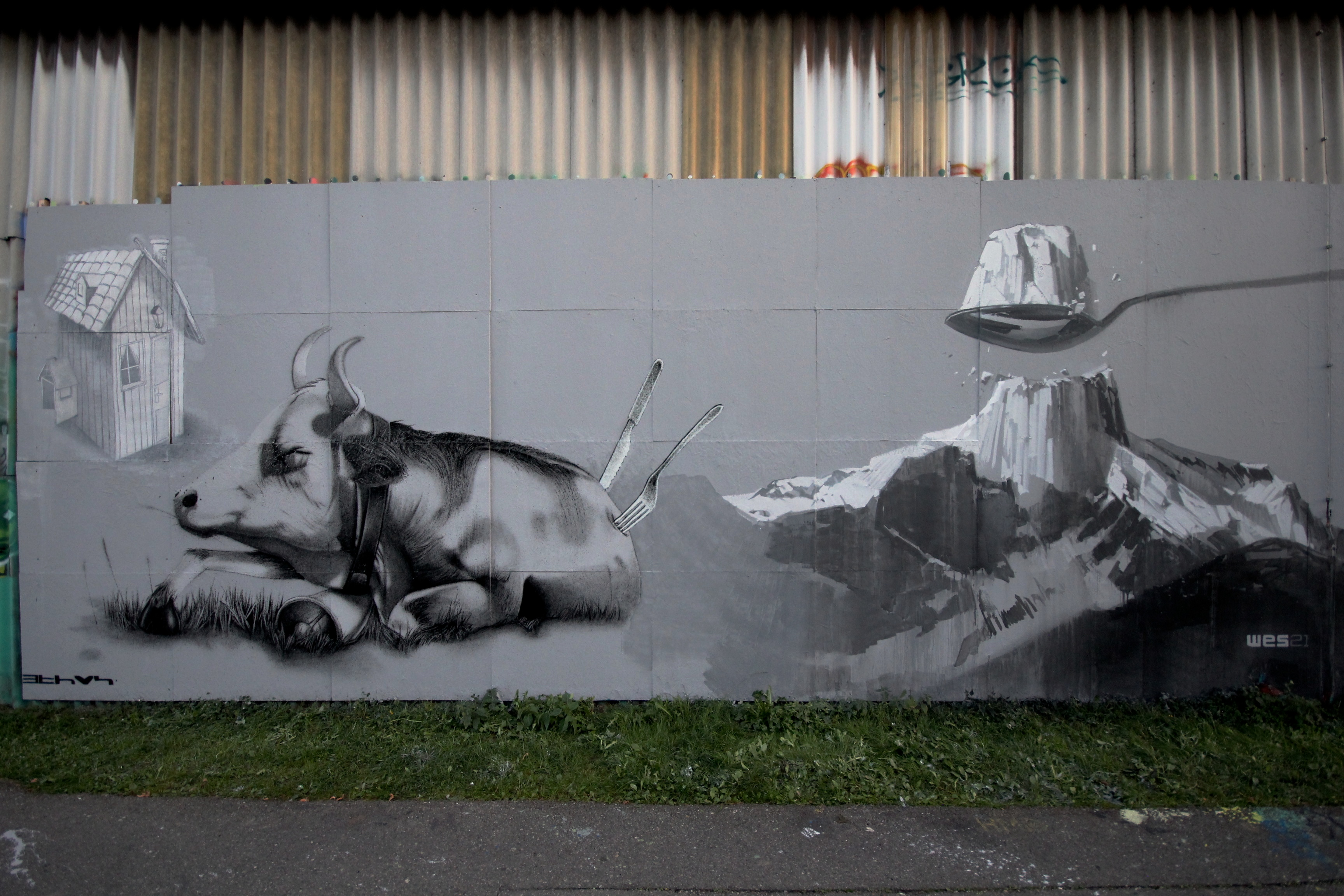 Two new murals from Ethos in Switzerland and USA Artes & contextos Ethos 2