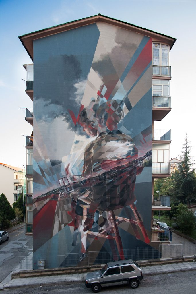 """Event Horizon"" production: a new mural for Vesod in Campobasso for Draw the line Festival"