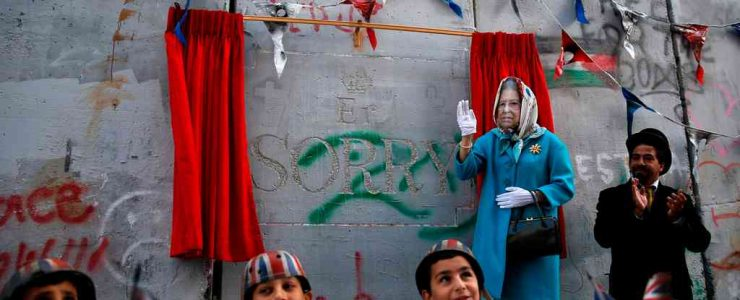Banksy Throws Balfour Apology Party at The Walled Off Hotel in Palestine