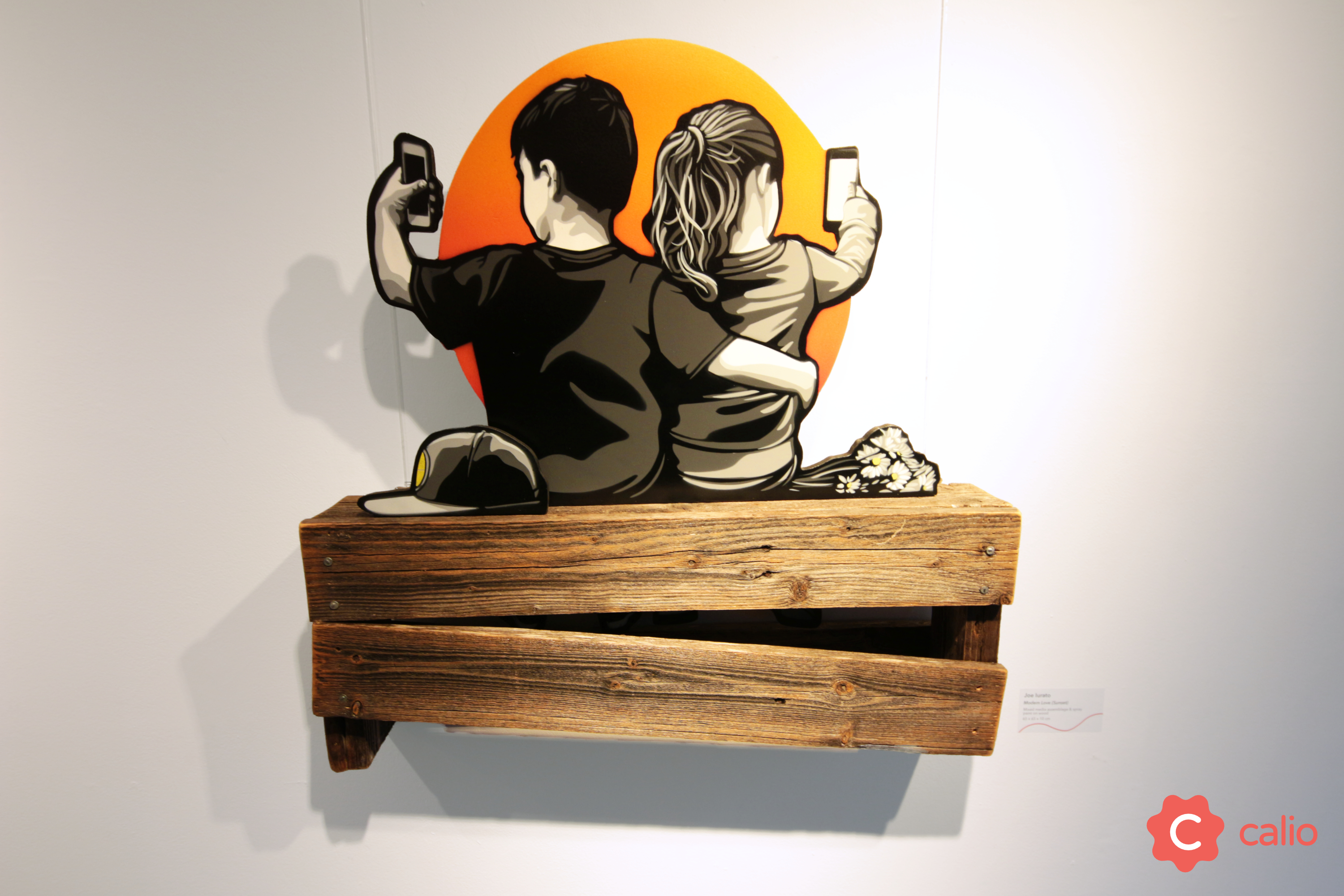 "Recap: ""The Social Paradox"" Group Exhibition @ London's Calio Artes & contextos Joe Iurrato Modern Love Sunset v2"