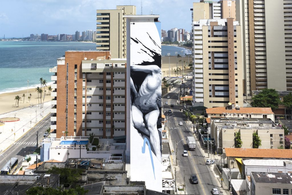 """Broken"" by INO in Fortaleza, Brazil"
