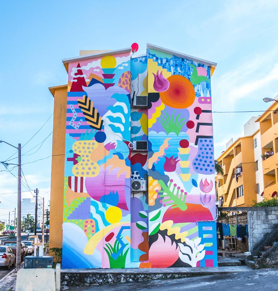 Bosque Del Mar mural by Zosen & Mina Hamada in Veracruz ...