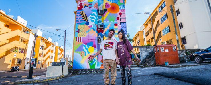 Bosque Del Mar mural by Zosen & Mina Hamada in Veracruz, Mexico