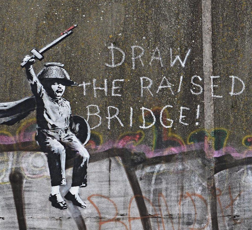 """Raise The Drawbridge"" by Banksy in Hull, UK"