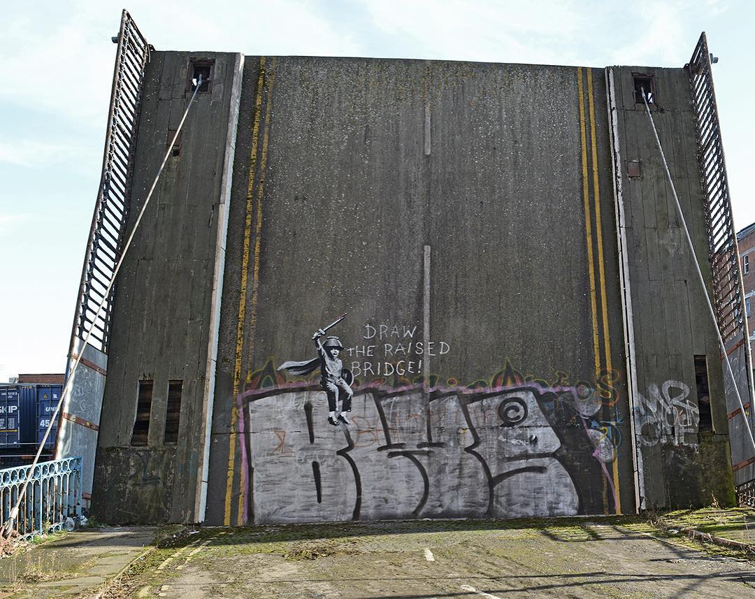 Is Banksy's latest work some surprise graffiti on a bridge in Hull?