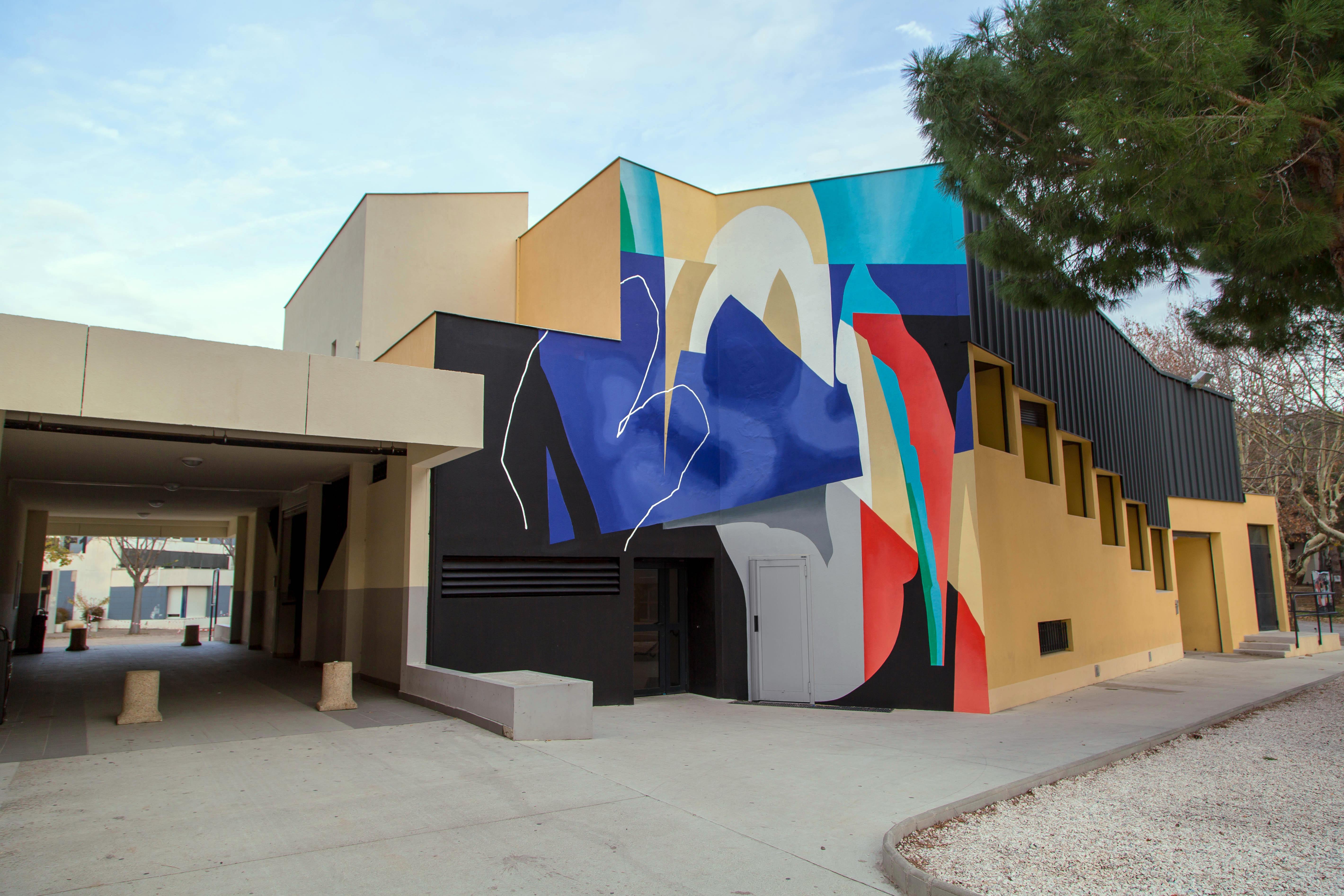 Blo new mural in Perpignan, France Artes & contextos AM FacadeM blo
