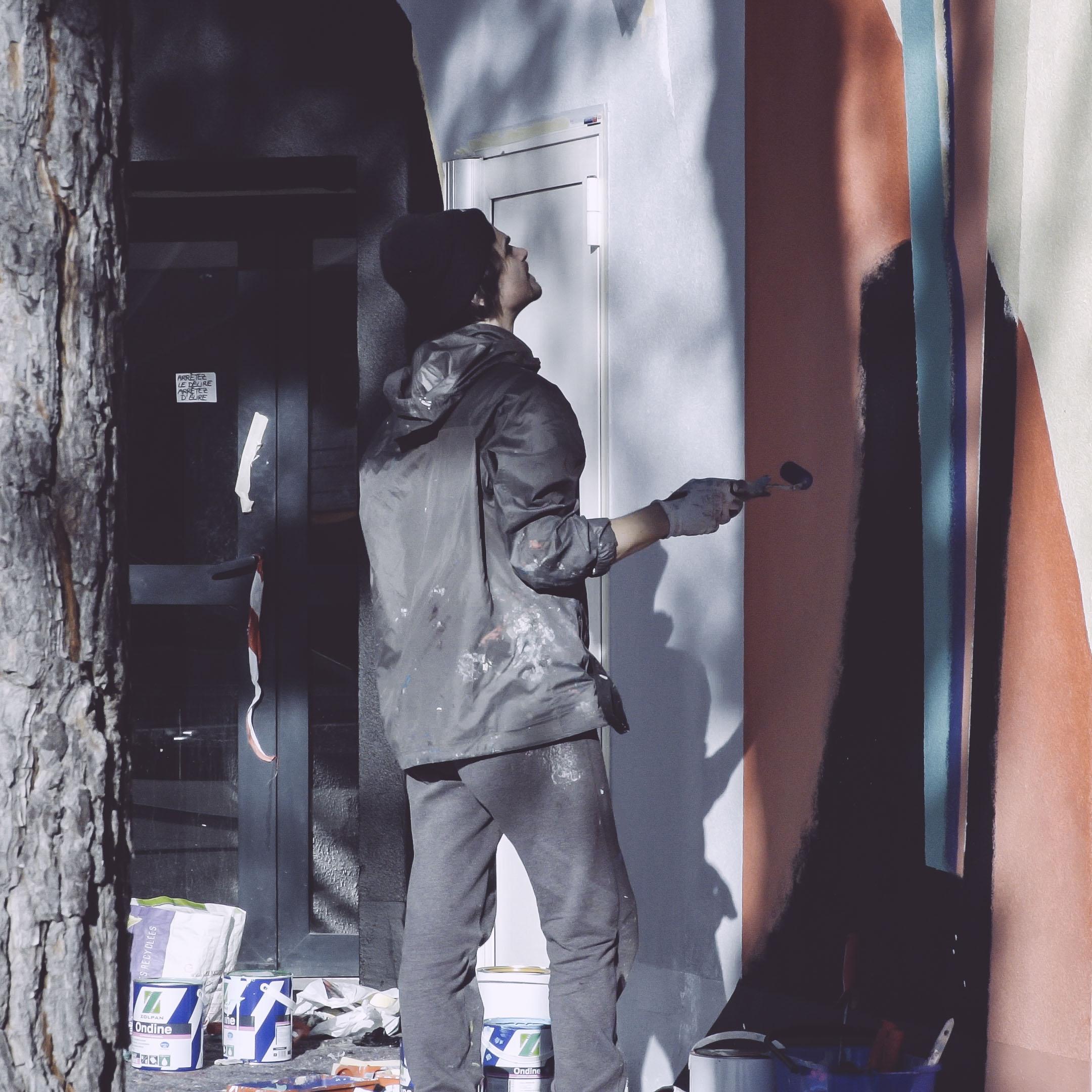Blo new mural in Perpignan, France Artes & contextos AM ebancpkcndkecikh