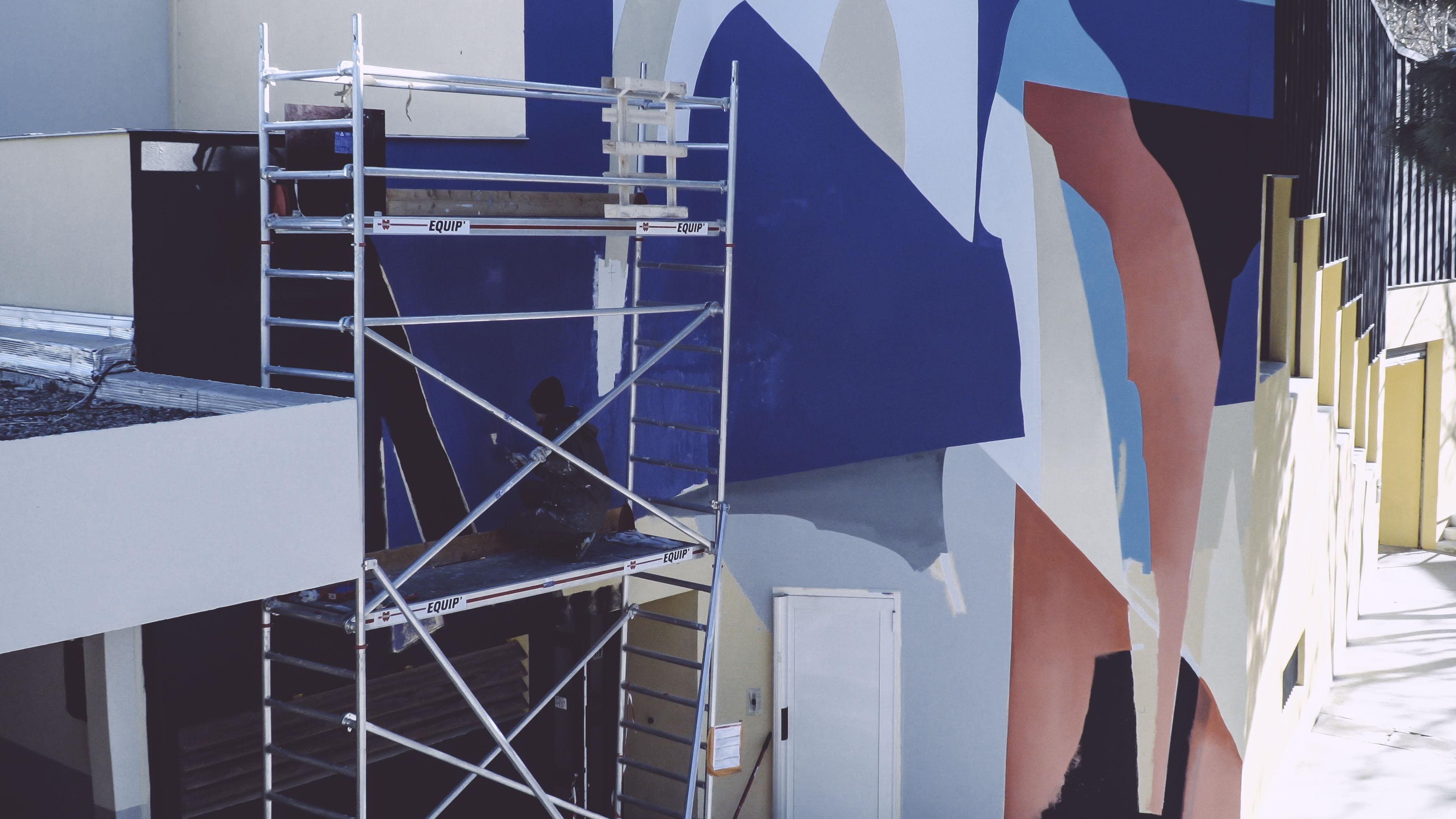 Blo new mural in Perpignan, France Artes & contextos AM fgokhinllkdlbnml