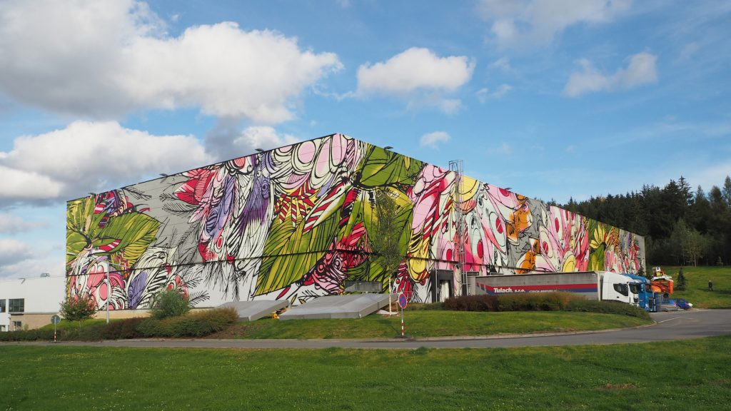"""Big and Bright"" by DZIA in Humpolec, Czech Republic"