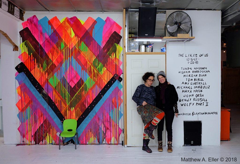 "Closing Party: ""THE LIKES OF US"" Curated by Maya Hayuk &  Alethia Weingarten 01/20/18 Brooklyn, NYC"