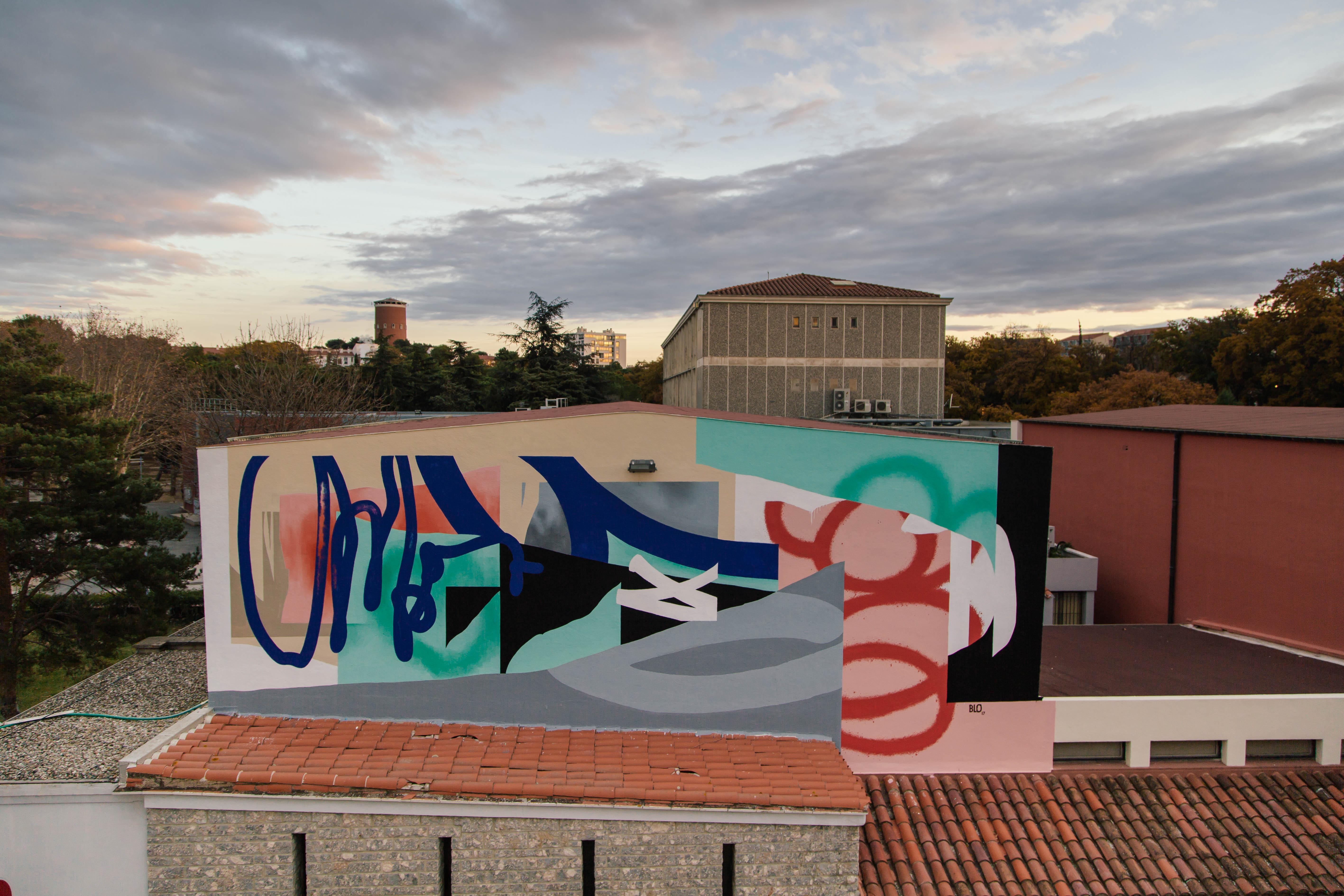 Blo new mural in Perpignan, France Artes & contextos D 083A1663