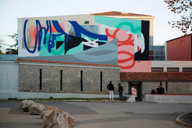 Blo new mural in Perpignan, France Artes & contextos D FacadeD 1