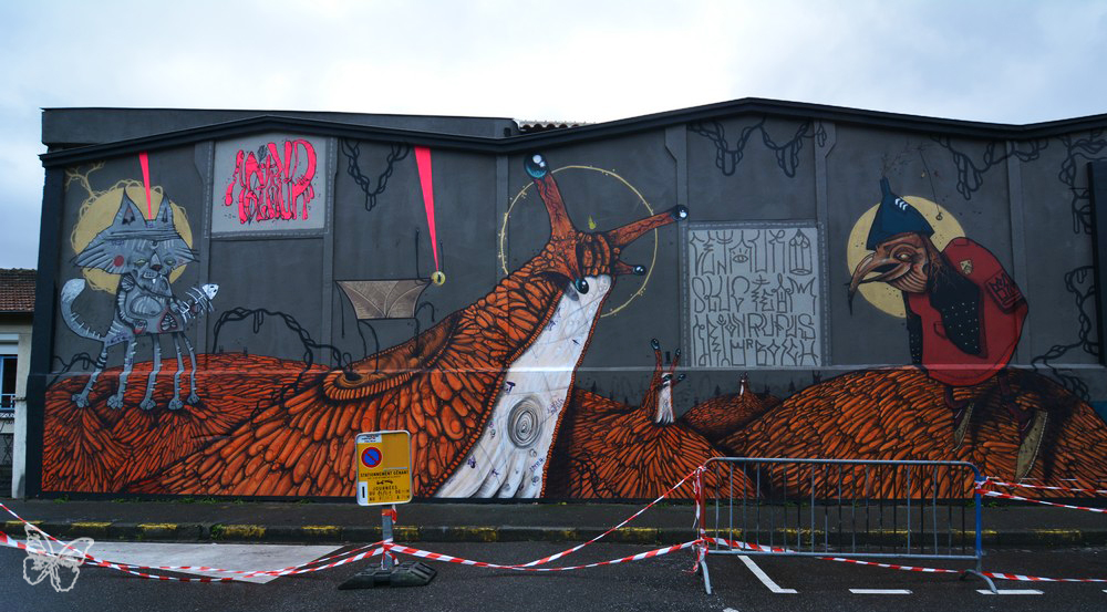 100TAUR Massive Mural in Toulouse