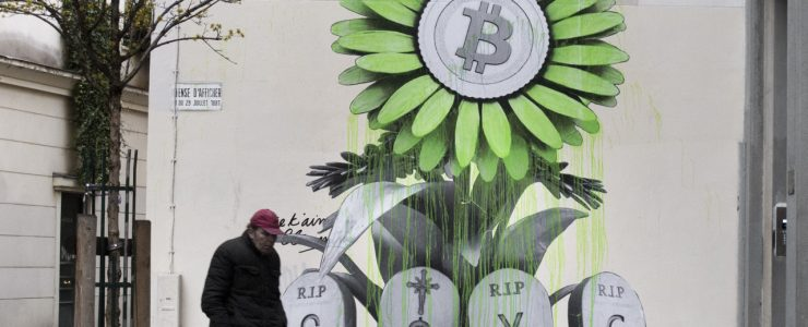 """R.I.P Banking System"" by Ludo in Paris"