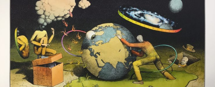 "Waone Interesni Kazki ""The Planetary Motion"" Hand Painted Print Release"