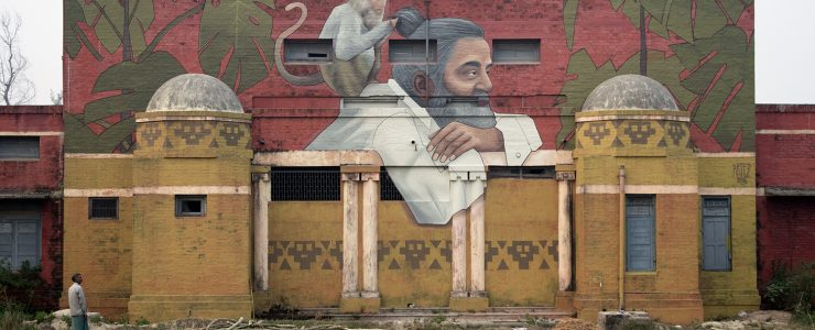 """Monkey Palace"" by Artez in Muzaffarpur, India"