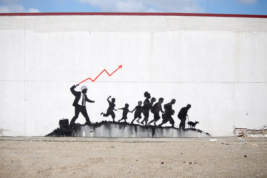 Banksy on Coney Island Avenue in New York City