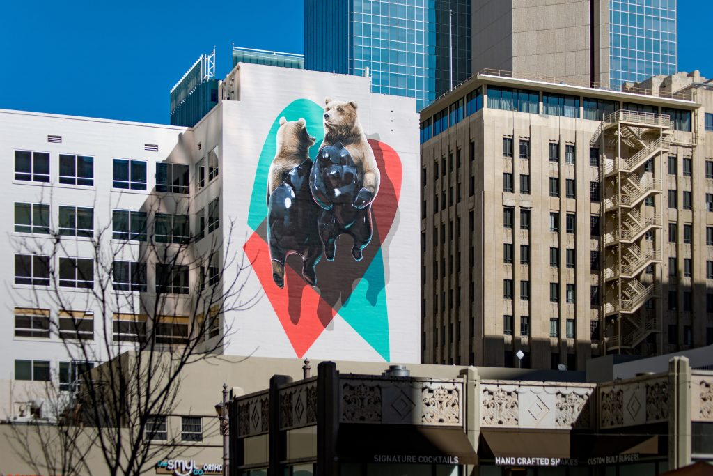 """El oso plateado and the machine"" by NEVERCREW in Phoenix, USA"
