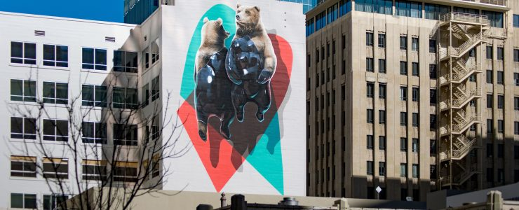 """El oso plateado and the machine"" by NEVERCREW in Phoenix, USA"