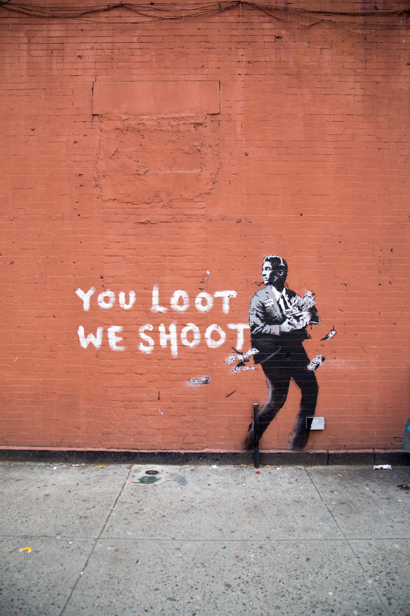 Banksy You Loot We Shoot NEW YORK CITY