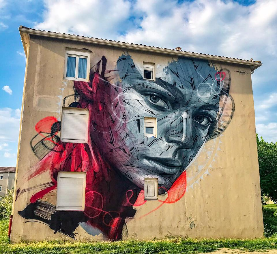 """Parasite"" by Hopare in Uzes, France"