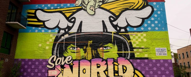 """D*Face """"SAVE THE WORLD"""" in Brooklyn, New York City"""