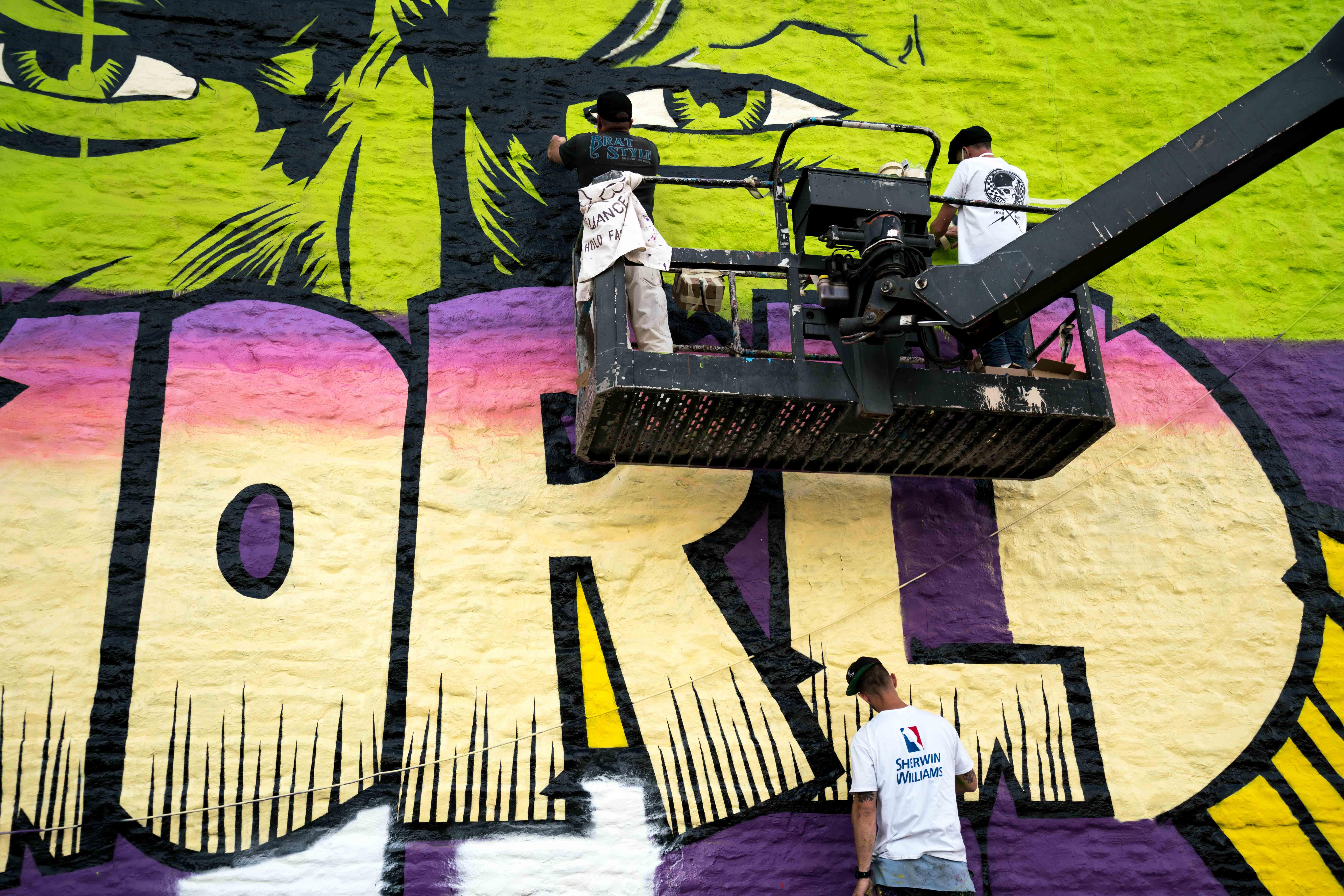 Work in progress by D*Face in Greenpoint, Brooklyn Artes & contextos DfaceKaskersky Brooklyn WIP 2