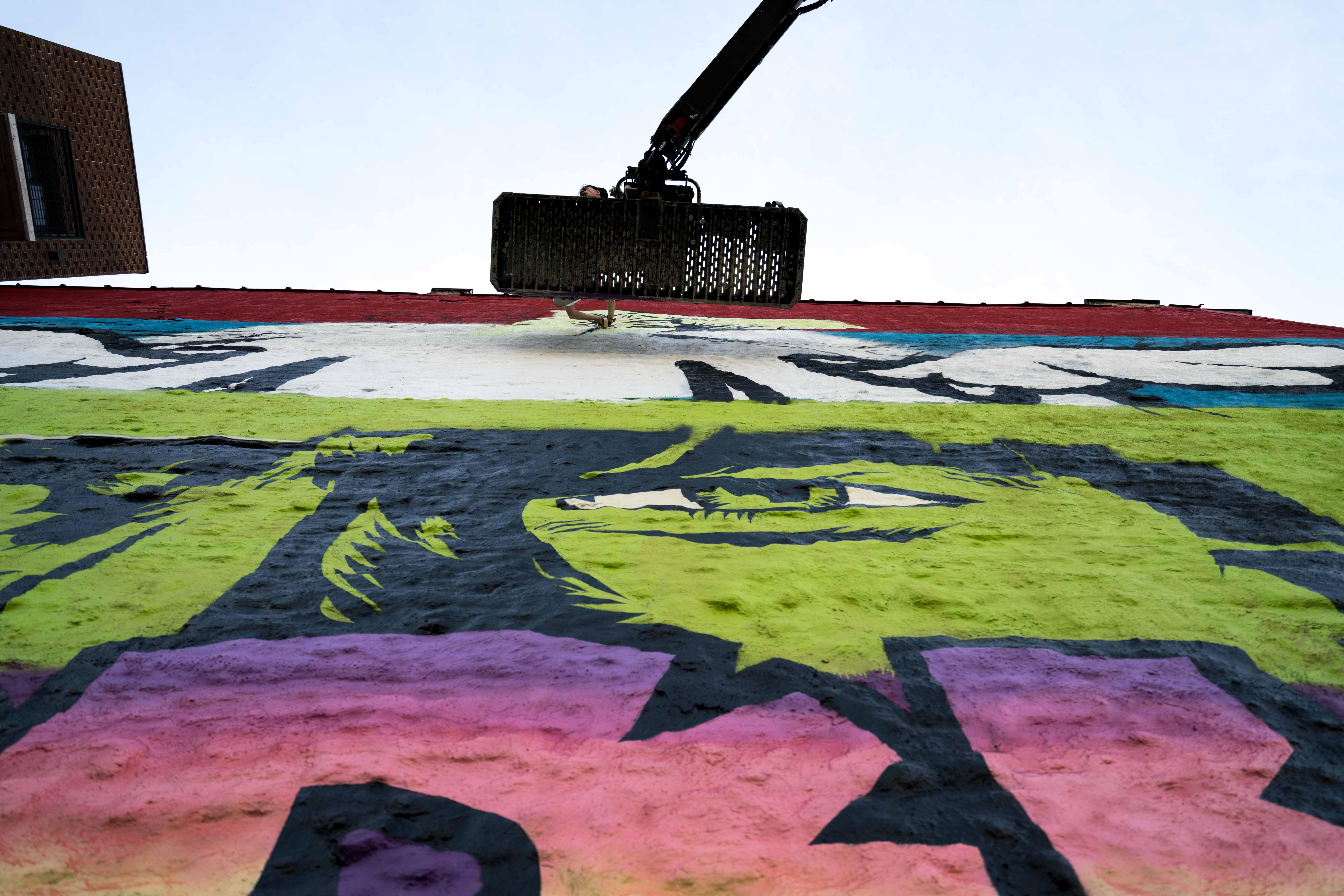 Work in progress by D*Face in Greenpoint, Brooklyn Artes & contextos DfaceKaskersky Brooklyn WIP 4 2