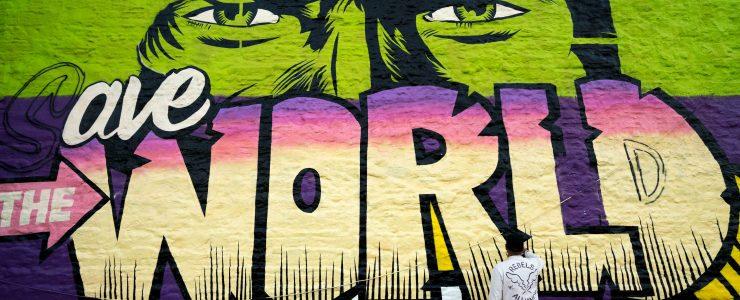 Work in progress by D*Face in Greenpoint, Brooklyn