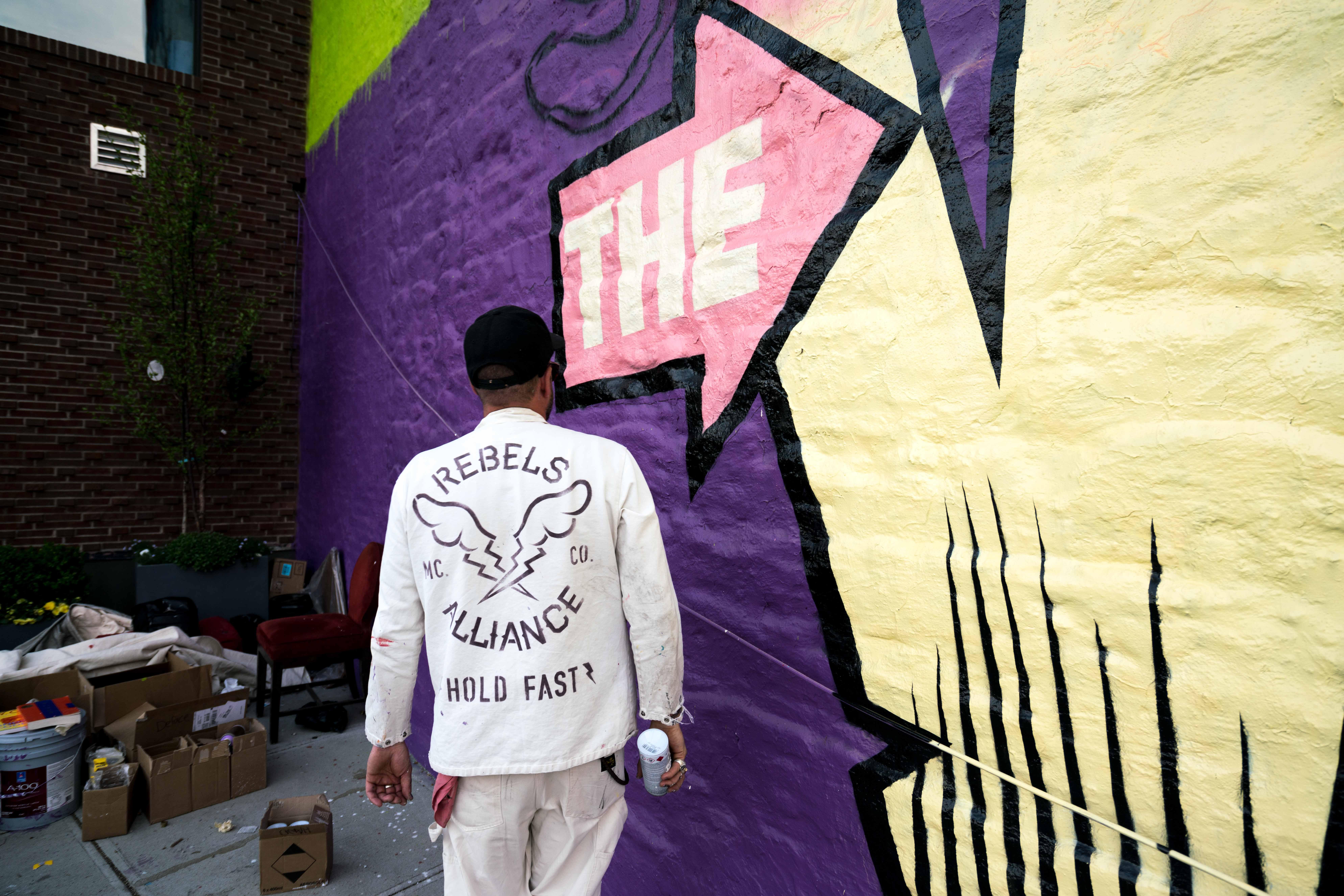 Work in progress by D*Face in Greenpoint, Brooklyn Artes & contextos DfaceKaskersky Brooklyn WIP 6