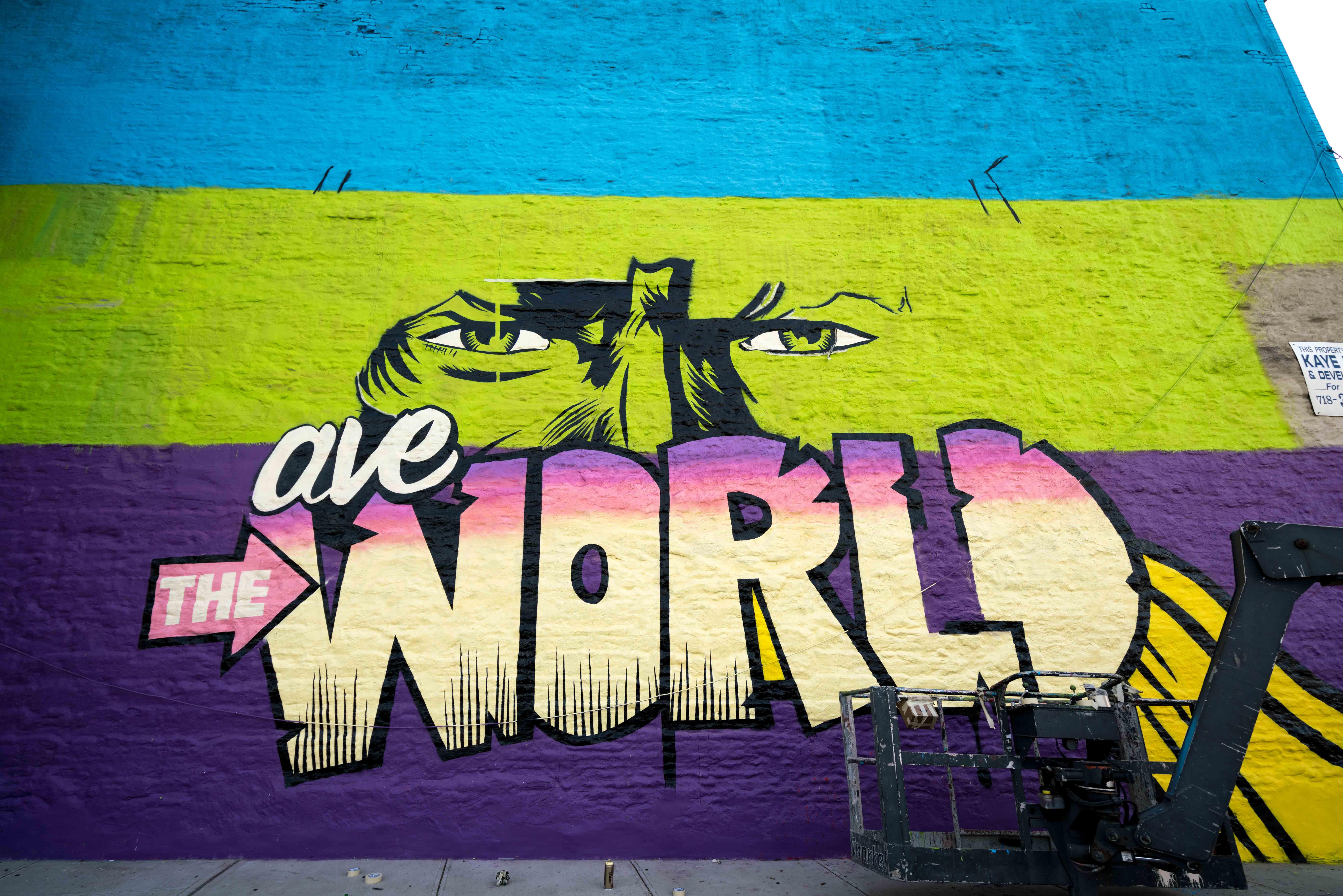 Work in progress by D*Face in Greenpoint, Brooklyn Artes & contextos DfaceKaskersky Brooklyn WIP