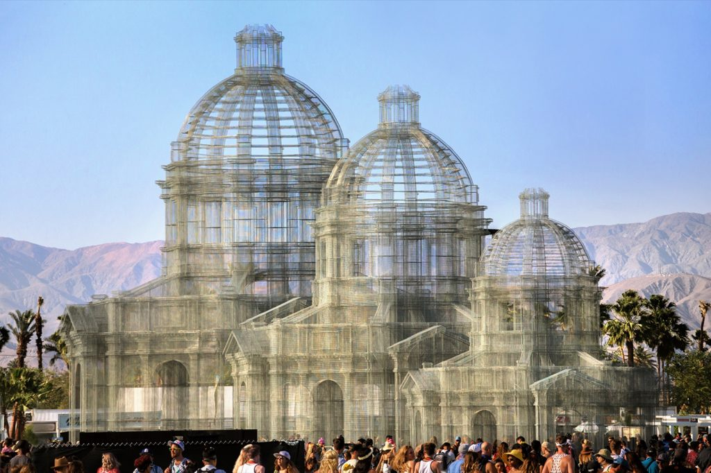 """Etherea"" by Edoardo Tresoldi at Coachella Festival"
