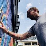 "Victims of knife crime remembered by Ben Eine with ""Peace is Possible"" mural in Shoreditch"