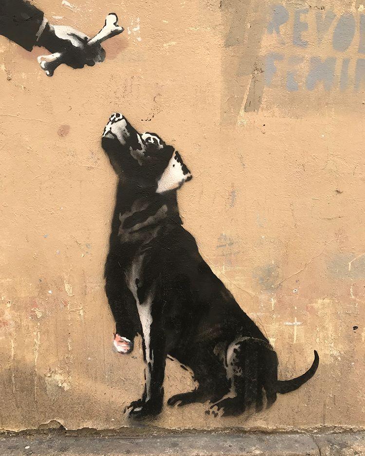 Banksy unveils new pieces in Paris, France Artes & contextos 35998686 1582603008532389 4482101735506051072 n