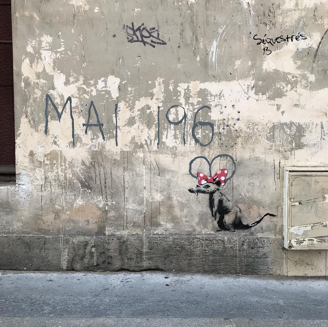 Banksy unveils new pieces in Paris, France Artes & contextos 36054631 359640367893234 3192489263161671680 n