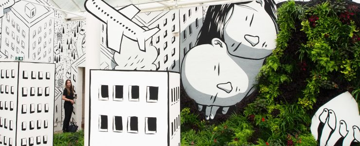 """Sleeping Beauty"" Millo in Helsingborg, Sweden"