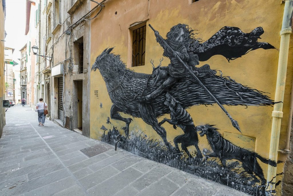 Puhl latest mural in Perugia, Italy