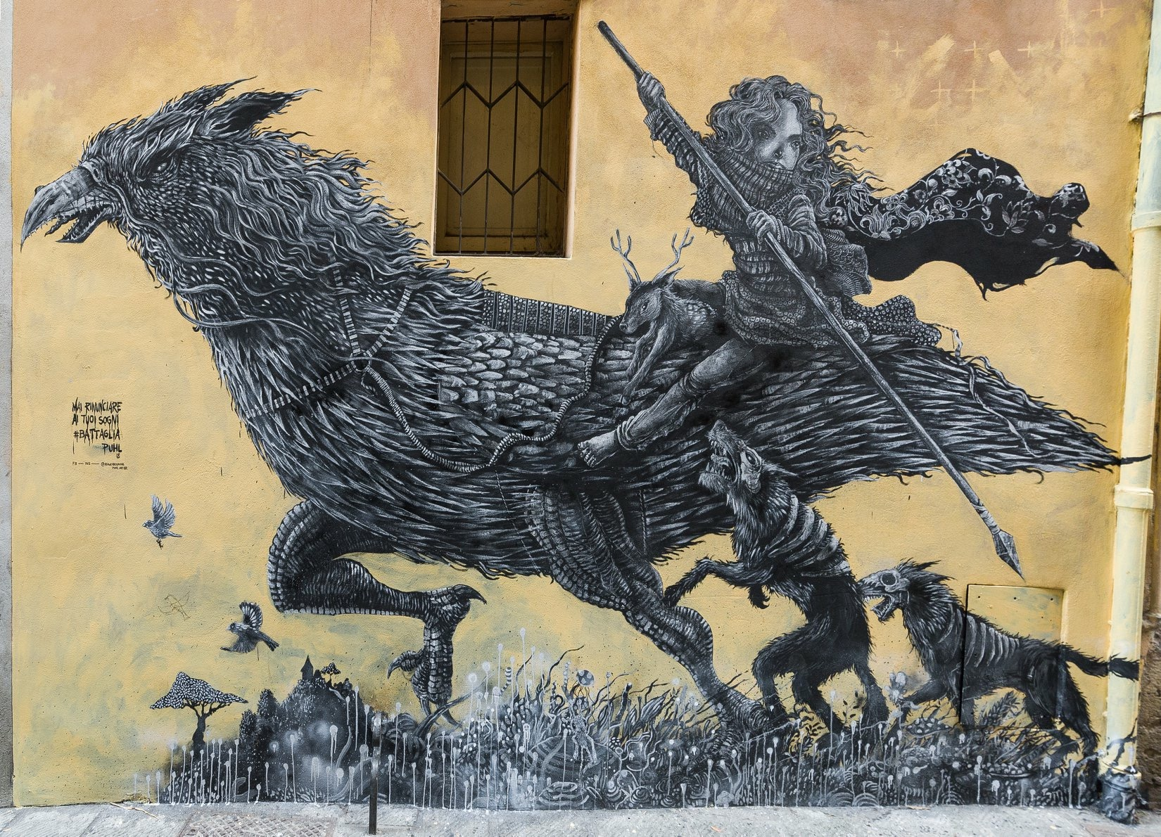 low priced e70c5 ee1a6 Puhl latest mural in Perugia, Italy | StreetArtNews ...
