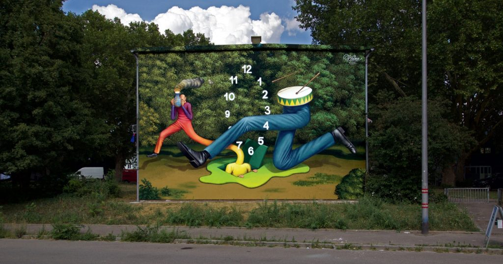 """""""Jump Through Time"""" by Waone in Mannheim, Germany"""