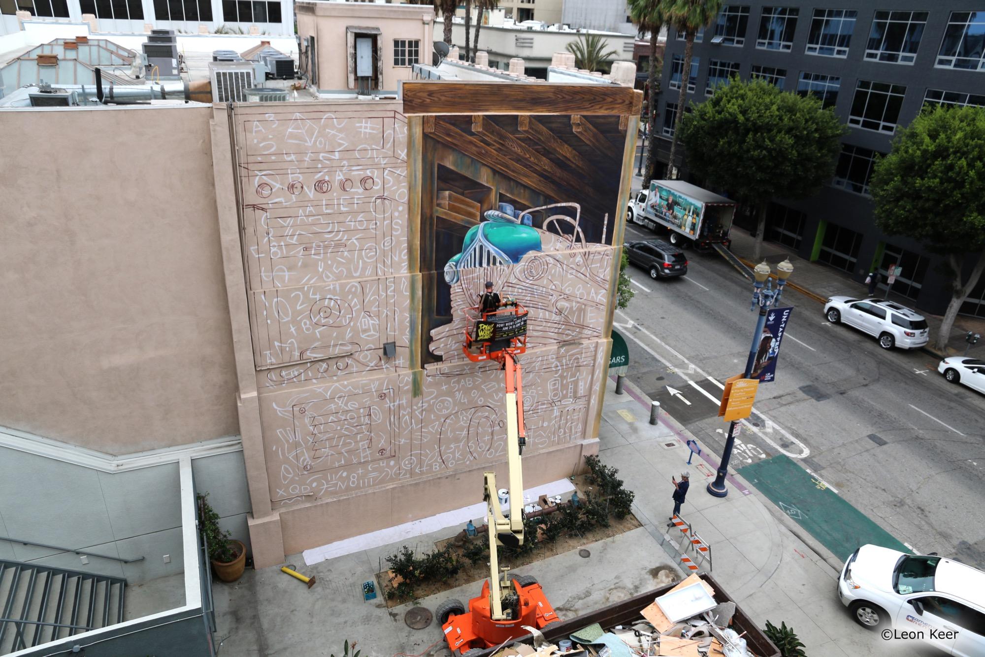 Leon Keer in Long Beach, California Artes & contextos powwow mural leonkeer 3d 42388266005 o