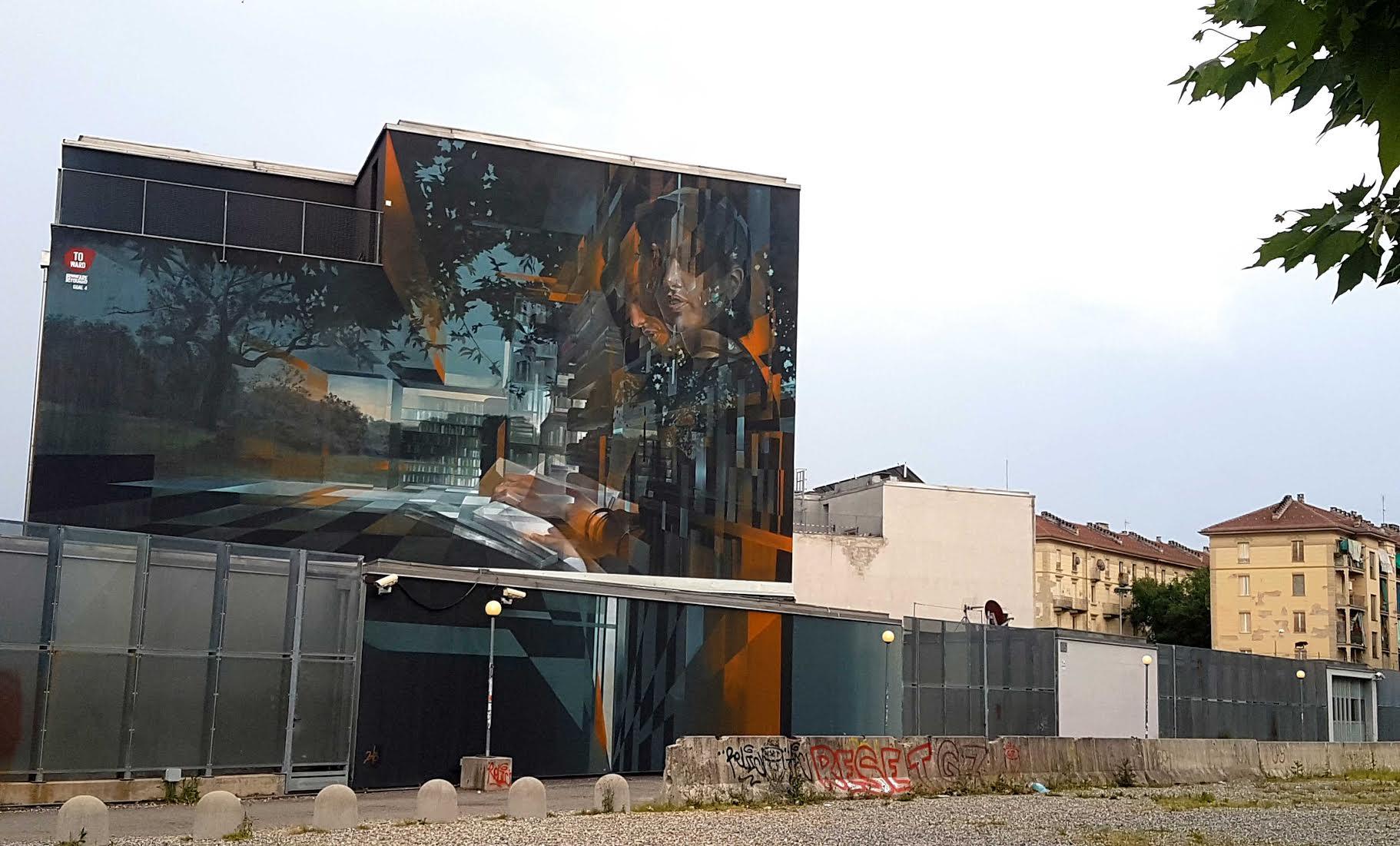 APC – New mural by VESOD in Turin, Italy Artes & contextos vesod1