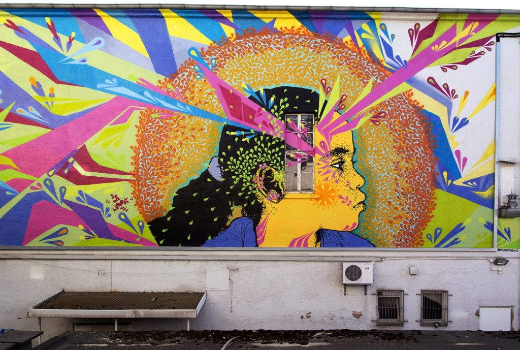 Stinkfish new wall in Gissen, Germany