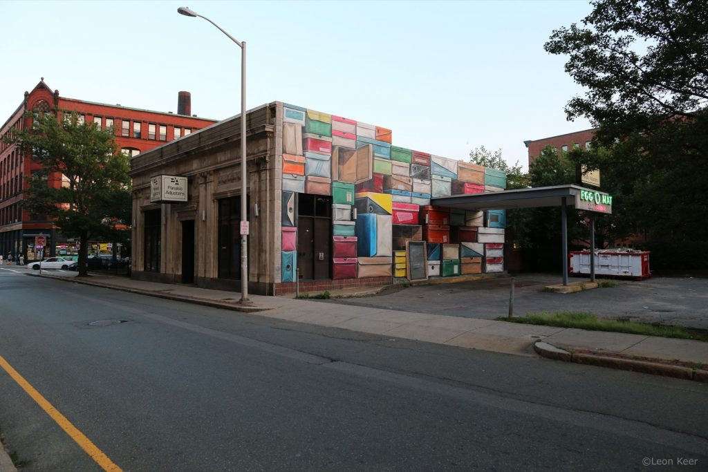 """Shoe Boxes"" by Leon Keer in Lynn, USA"