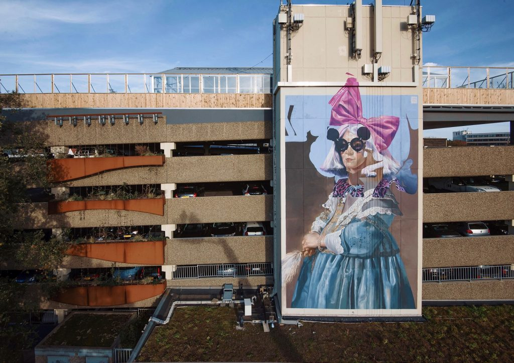 Portrait of a Girl in Blue and Pink by Telmo Miel in Haarlem, NL