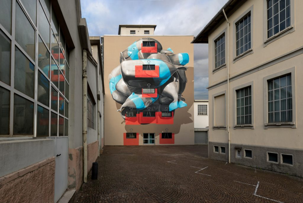 """Cluster"" by NEVERCREW in Novara, Italy"