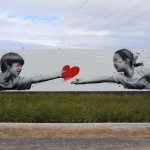 "Roamcouch's new mural ""Take My Heart"" in Gifu, Japan"